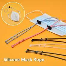Silicone Mask Hanging Rope Hook Mouth Mask Elastic Band Rubber Band String Mask Ear Cord Mask Rope Elastic Band Mask Accessories cheap CN(Origin) Easy to hook Anti-lost Not Deformed Comfortable Washable Food-grade Silicone White Black Pink Blue Gtay