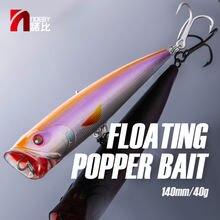 Noeby кормовой Поппер рыболовные приманки 140 мм 40 г верхняя