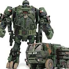 WJ Chó Săn M02 TF Biến Đổi Chó Săn Khói Ngụy Trang Thám Tử Mô Hình Xe Tải Thanh Tra Nhân Vật Hành Động Oversize Robot Đồ Chơi