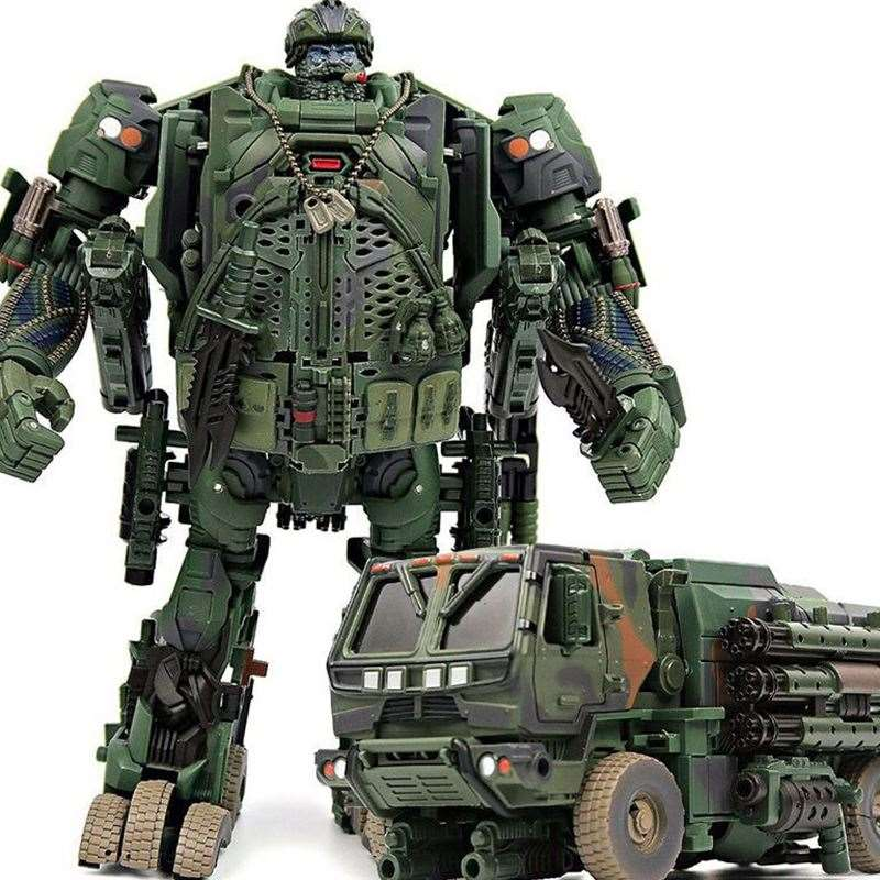 WJ Hound M02 TF Transformation Hound Camouflage Smoke Detective Truck Model INSPECTOR Action Figure Oversize Robot Toy