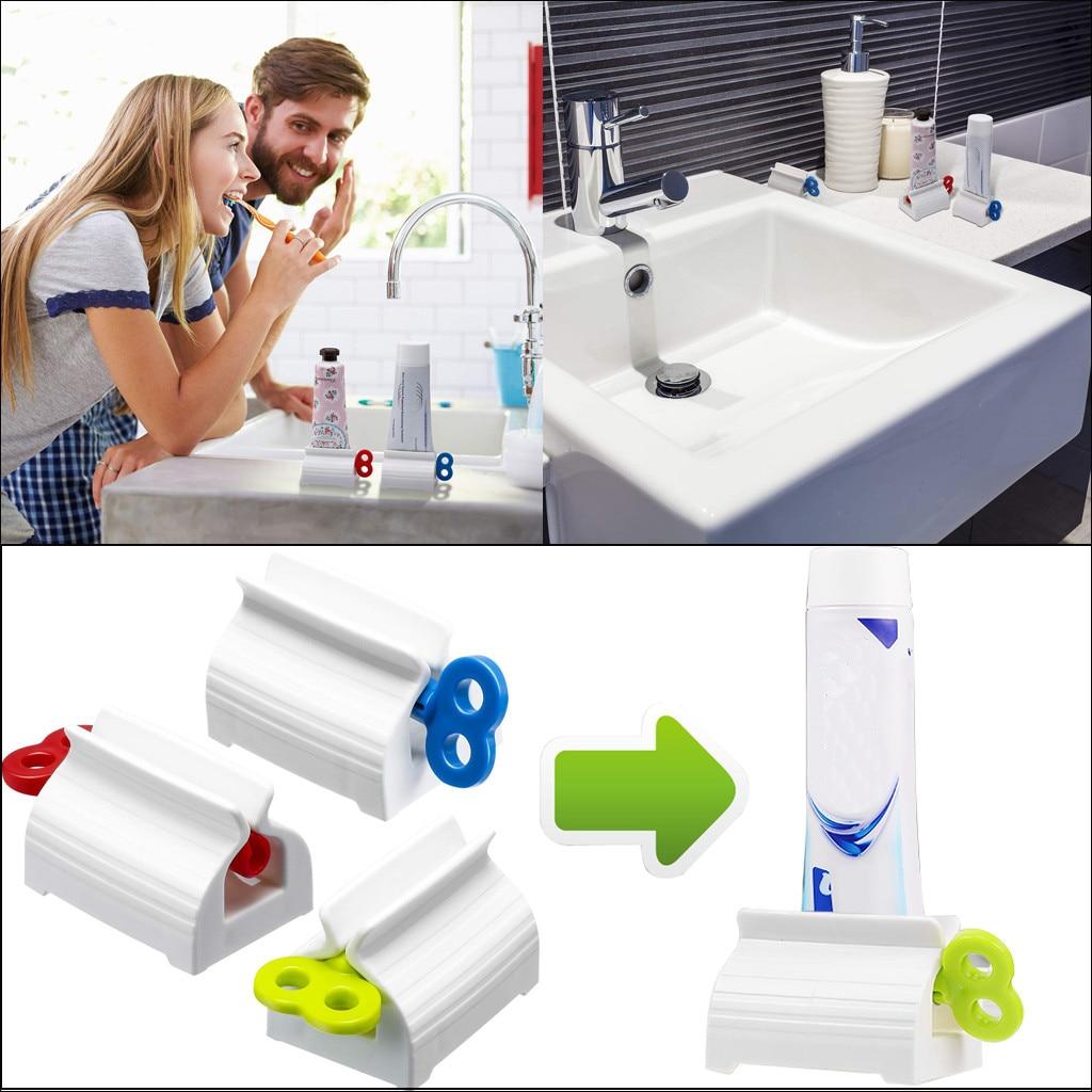 2020 Multifunction Plastic Toothpaste Tube Squeezer Easy Dispenser Rolling Holder Bathroom Supplies