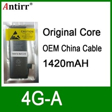 10pcs/lot Real Capacity China Protection board 1420mAh 3.7V Battery for iPhone 4 4G zero cycle replacement repair parts 4G-A