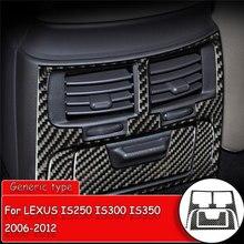 Araba styling karbon Fiber Sticker LEXUS IS250 300 350 2006 2012 araba arka klima çıkış ayar kapağı Sticker