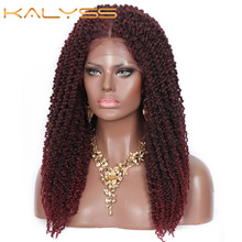 Wigs Lace-Front-Wig Baby-Hair Pre-Twisted Kalyss Full-Braided Crochet-Hair Women 20-Inches