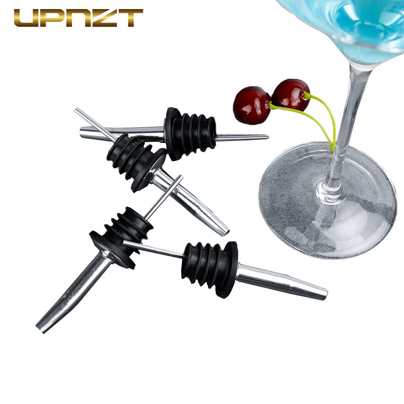 Stainless Steel Wine Bottle Pourer Cocktail Olive Oil Wine High Quality Pourer Bar Tools