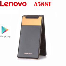 Lenovo A588T Flip Cell-Phone-Mtk6582 512gb GSM New Android Original 800--480p 4g-Rom