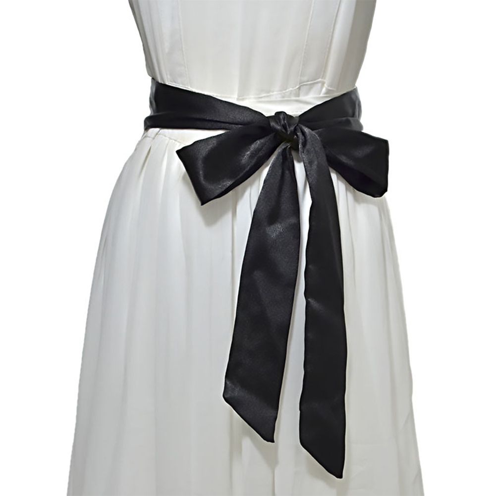 Dress Decor Wrap Around Self Tie Ladies Soft Wide Corset Ribbon Waistband Silk Women Waist Belt Bowknot Casual Fashion