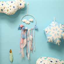 Scandinavian style Dreamcatcher Room Decor Handmade Wind Chimes Hanging Pendant Dream Catcher Home Wall Art Hangings Decorations