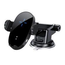 Chargeur de voiture sans fil Qi 15W pour iPhone X 8 XR 11pro xs, charge rapide pour Samsung S10 S9 S8 note 10 8, supports de téléphone à grille daération