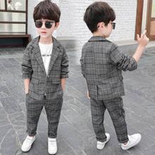 Новинка 2020 клетчатый костюм для маленьких мальчиков Блейзер
