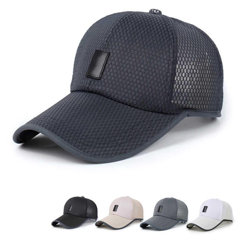 힙합 모자 Sunproof 모자 바이저 남자 여자 조절 메쉬 야구 모자 야외 선 스크린 통기성 여름 모자