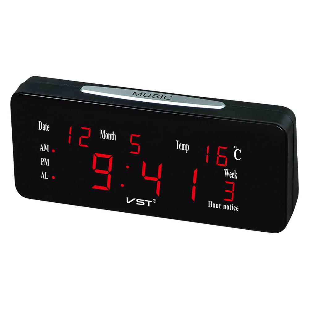 VST Digital Table Clock Office Kitchen Bedroom Desk Clock Student Kids Table Watch With Backlight Desktop Clock Digital LED Gift image