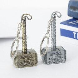 Thor marteau porte-clés Mjolnir 1:1 monde sombre Ragnarok porte-clés porte-clés anneau Viking Odin nordique mythologie Marvel vengeur en gros