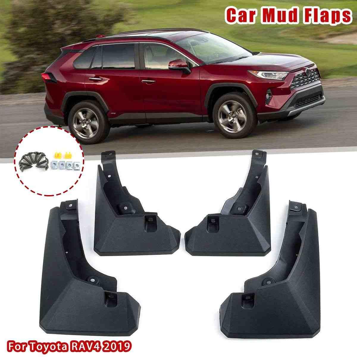 Huadi RAV4 Car Mudflaps Front Rear (4 Pack)Mud Guards For RAV4 RAV4 XA50 2019 2020 Car Accessories(Black)