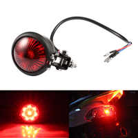 1pc Motorcycle LED Tail Light Rear Fender Motorbike Stop Taillight for Harley Chop Brake Rear Lamp ABS Material Red Black