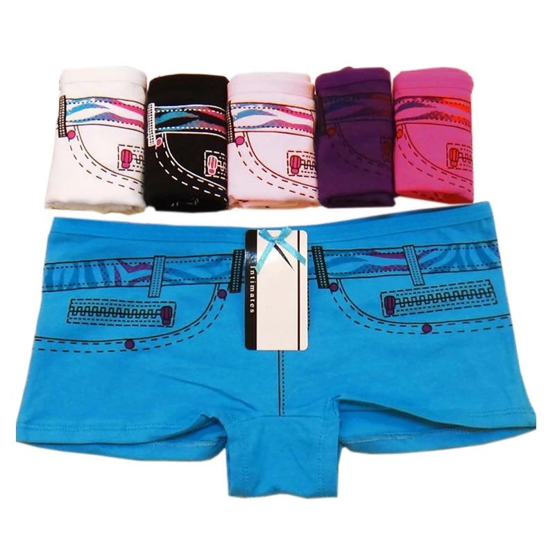 6 PCS Womens Boxers Shorts Cotton Ladies Boyshort Knickers Underwear Panties