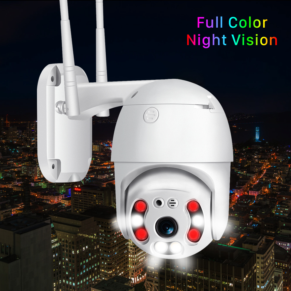 H.265 1080P Outdoor PTZ IP Camera CCTV Security Speed Dome Camera Surveillance WIFI Cloud Storage Night Vision Motion Detection