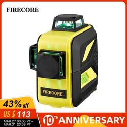 Лазерный уровень FIRECORE F93T-XG, самонивелирующийся горизонтальный, вертикальный, поперечный 3D-лазер зеленый 12-линейный с литиевым аккумуляторо...