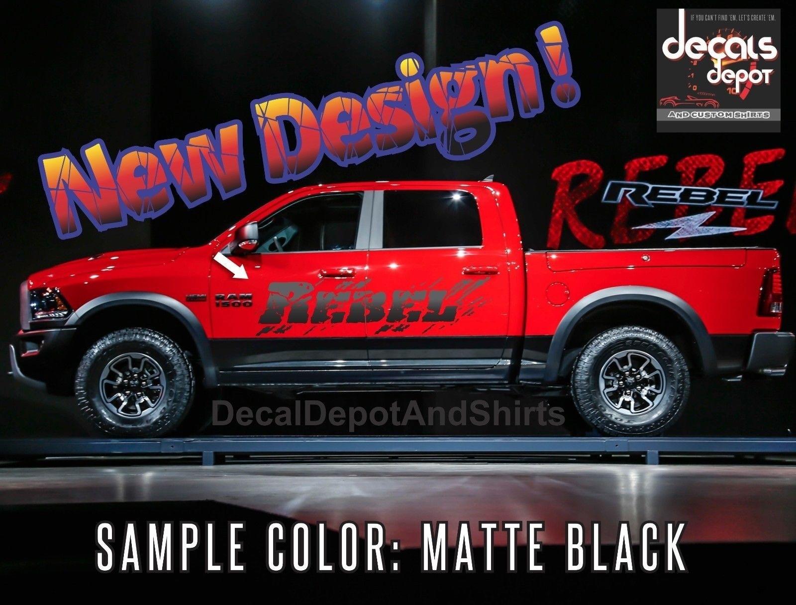 Pair Dodge Ram 1500 Charger Challenger Emblem Style Hood Decals 19 5 7l Hemi