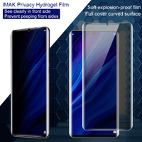Protect Privacy Anti Glare for Huawei P30 Pro Screen Protector Imak anti spy Full Phone Screen Cover Curved Hydrogel Film