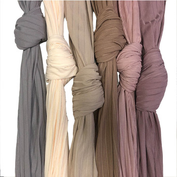 Roma lined plain stretchy ribbed jersey hijab  Hijabs Long Muslim women Shawls Wraps Solid Color - discount item  64% OFF Muslim Fashion