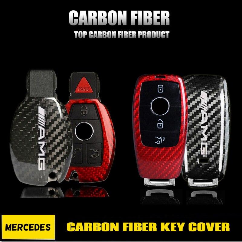 REAL CARBON FIBER CASE FOR MERCEDES-BENZ W212 W166 W205 C117 W204 SMART KEY FOB