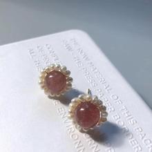 Pearl round WBW Earrings Female White Round Wedding Pendant Fashion Korean Jewelry