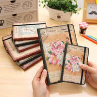 A6 Vintage Flowers Pocket Notepad Filofax School Small Notebook Diary Note Book Stationery Cute Kawaii Mini Student