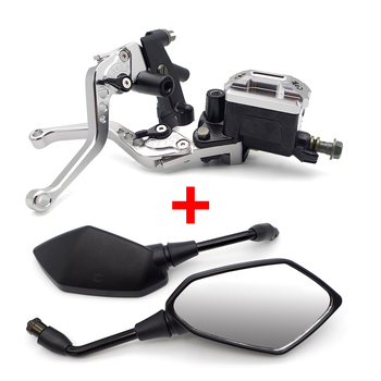 Juego de espejos de cilindro maestro de freno de embrague para motocicleta HONDA VTX 1800 PCX 150 NC 700S VFR 800 REBEL 250 MSX 125
