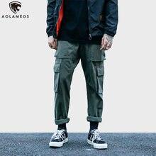 Брюки карго aolamegs мужские свободные повседневные штаны в
