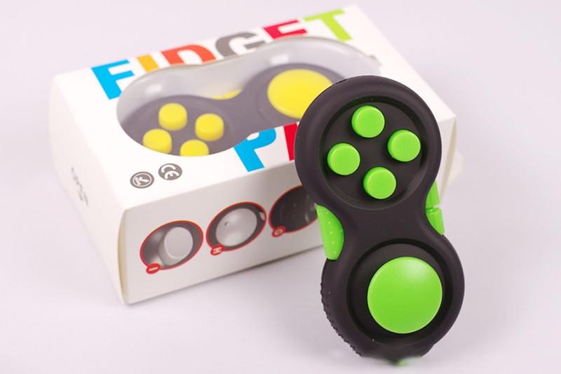 New Decompression Fidget Pad Cube Stress Reliever Squeeze Fun Magic Cube Desk Toy Handle Toys Stress Rainbow Strange-shape