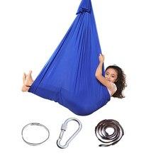 Indoor Swing Hammock Cuddle Elastic Soft Up-To-Sensory Adult Kids Child Cotton for Parcel