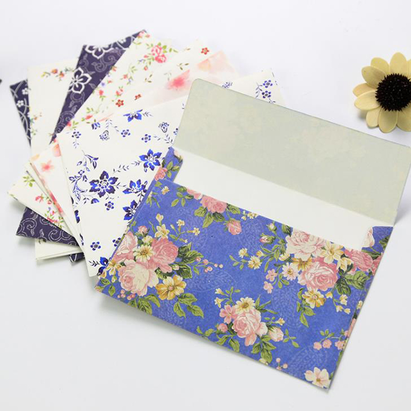 10 Pcs/set Lovely Beautiful Flowers Envelopes Letterhead Cherry Roses Letter Paper Fresh Elegant Floral Envelopes Stationery