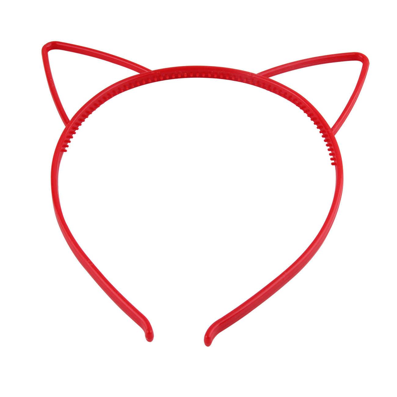 แมวหู Headbands มงกุฎเจ้าหญิง Tiara พลาสติกสัตว์ผีเสื้อ Bow Hoop อุปกรณ์เสริม Boho Headwear