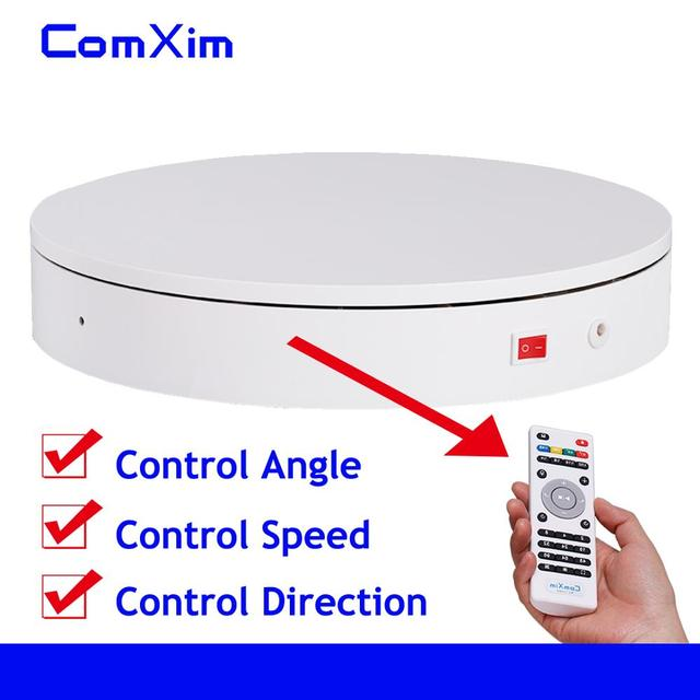 32cm Remote Control Speed Direction 360 Degree Rotation Electric Rotating Turntable 3D Scanning Photography Display Stand ComXim