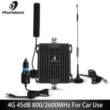 Усилитель сотового сигнала 4G LTE, усилитель 800/2600 МГц, усиление 45 дБ для связи, усилитель мобильной сети, ретранслятор для автомобиля, грузовика, лодки