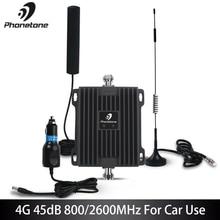 Amplificateur cellulaire de Signal du propulseur 4G LTE 800/2600MHz Gain 45dB répéteur Mobile de propulseur de réseau de Communication pour le bateau de camion de voiture