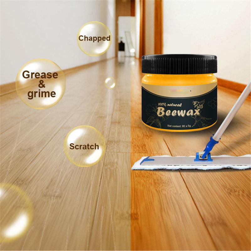 Organic 100% Natural Pure Wax Wood Seasoning Beewax Complete Solution Furniture Care Beeswax Home Cleaning Dropshipping TSLM1