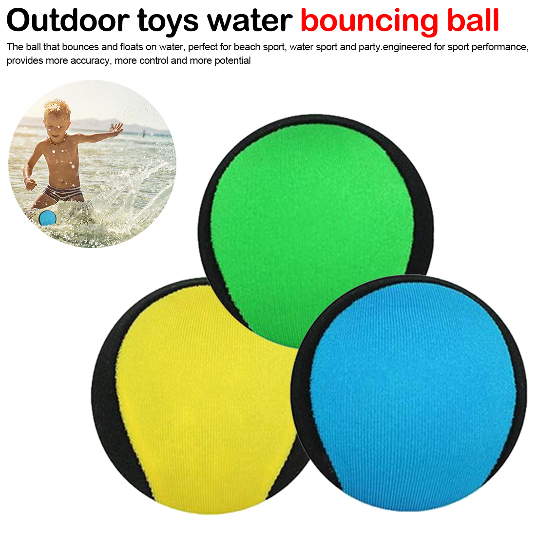 Outdoor Toys Water Bouncing Ball Pool Play Beach Ball Skips On Water Game Sports Toy For Swimming Pool Kids Adult
