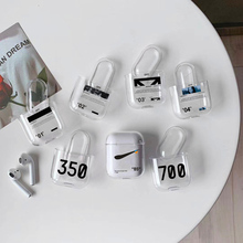 Fashion street trend for AirPods 2 1 case Transparent Bluetooth Headset protective cover air pods Hard box