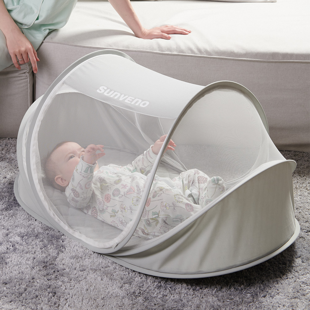 Sunveno Single Instant Pop Up Mosquito Net Auto Self-expanding Tent Baby Bed Anti Mosquito For Outdoor, Beach, Hiking, Traveling