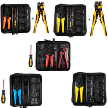 Multifunction Wire connector stripper Crimper kit Engineering Ratchet Terminal Crimping Plier Wire Screwdriver Hand Tool Sets