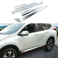 Chrome Side Door Body Molding Cover Trim Protector Fit For Honda CR V 5th 2017 2018 2019 Decoration Accessories
