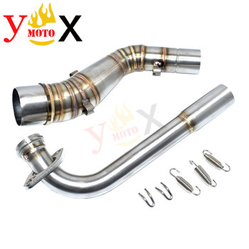 NMAX 155 Scooter Bike 51MM Slip On Front Header / Middle Exhaust Pipe Mid Link Connection Tube Escape Muffler For Yamaha NMAX155