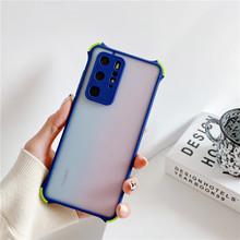 Dla Xiaomi Redmi Mi uwaga 10 10s 9T 9S 8 a 9 Pro 10T Lite 9A 9C 11 tylna pokrywa silikonowa odporna na wstrząsy matowa przezroczysta obudowa na telefon tanie tanio PUR-FEUTY CN (pochodzenie) Bumper Zwykły przezroczyste High quality TPU Anti-fall Phone Case Color Slim Silicone Cover Case