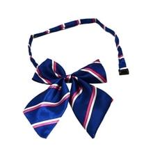 Модная детская униформа в полоску с галстуком-бабочкой для девочек, одежда с бабочкой, аксессуары, школьное платье для выступлений, галстук-бабочка, От 0 до 15 лет