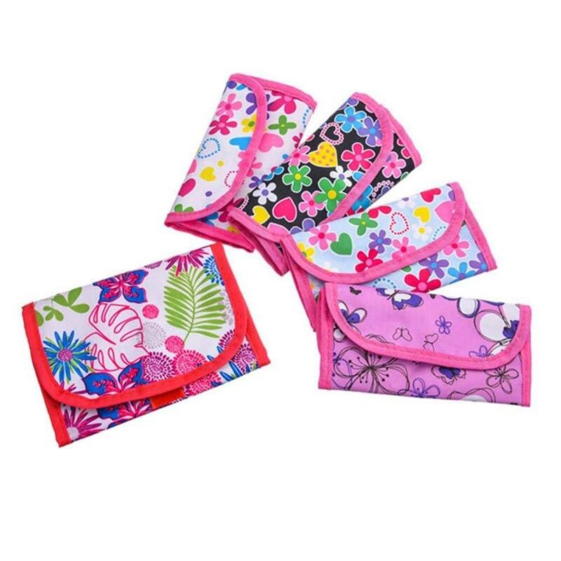 BEAU-Knitting Needles Bag 5 Pcs Portable Crochet Hook Bag Knitting Holders Sewing Accessories Hand Craft Knitting Tools