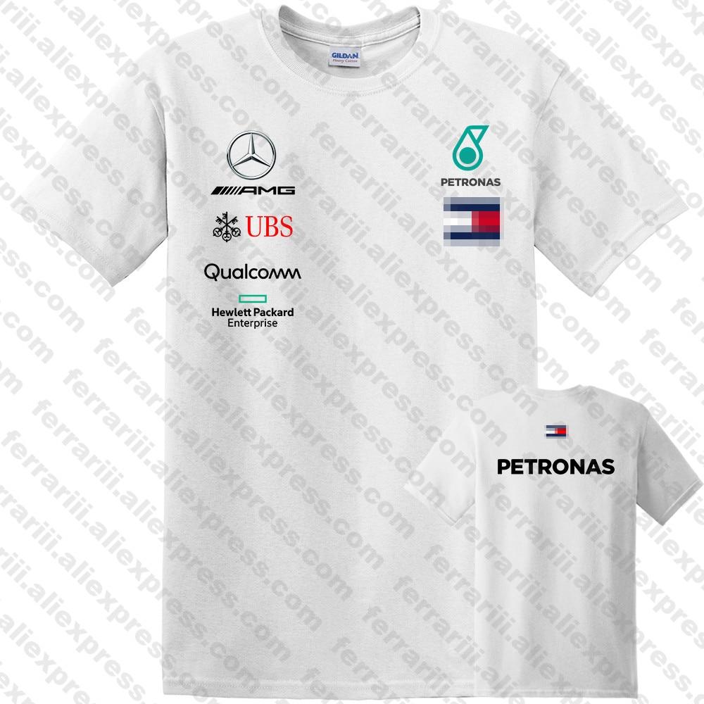 New 2019 Mens Mercedes F1 Team Lewis Hamilton T Shirt Tee White –  Streetwear Size S-3Xl