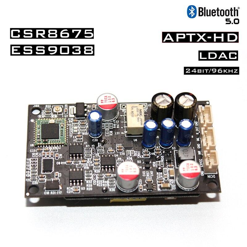ES9038 CSR8675 Bluetooth 5.0 Receive Decode Support LDAC/APTX 24bit/96Khz With Isolated Power Regulator Module
