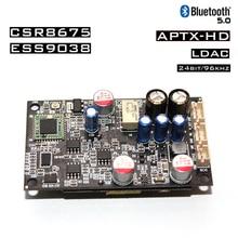 Nvarcher ES9038 CSR8675 Bluetooth 5.0 Receive Decode Support LDAC/APTX 24bit/96Khz With Isolated Power Regulator Module